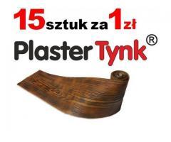 HIT deska elewacyjna elastyczna okładzina PlasterTynk i belki rustykalne NA WYMIAR